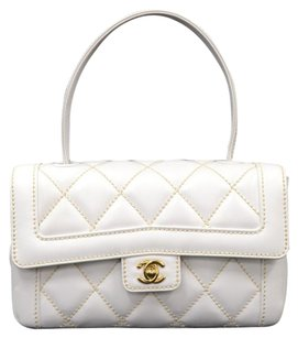 Chanel Leather Wild Stich Hand Baguette