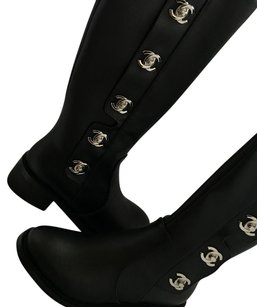 Chanel Louboutin Louis Vuitton Gucci Black Boots