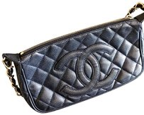 Chanel Black Caviar Clutch