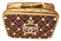 Chanel Moscow Cross-body Rare Bronze Gold Clutch