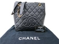 Chanel Petit Shopping Pst Tote in Black