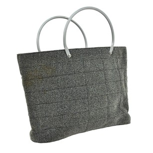 Chanel Quilted Hand Tote in Gray