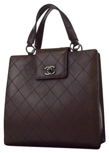 Chanel Quilted Vintage Leather Hand Baguette