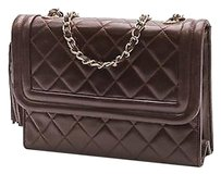 Chanel Vintage Quilted Satchel in Brown