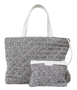 Chanel Grey Boucl Knitted Satchel in Gray