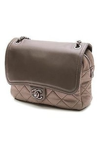 Chanel Leather Easy Satchel in Gray