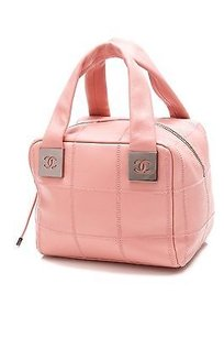 Chanel Light Quilted Satchel in Pink