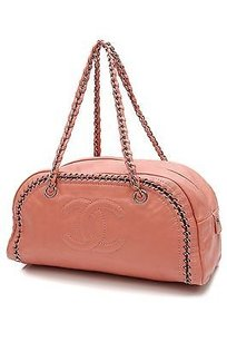 Chanel Leather Luxe Satchel in Salmon pink