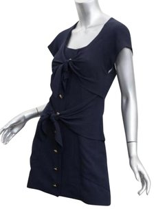 Chanel short dress Blue Boutique Womens Vintage Navy Silk Shift 342 on Tradesy