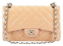 Chanel Peach Patent Leather Shoulder Bag