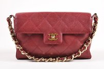 Chanel Burgundy Gold Tone Shoulder Bag