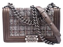 Chanel Silver Hardware Chain Cross Body Bag