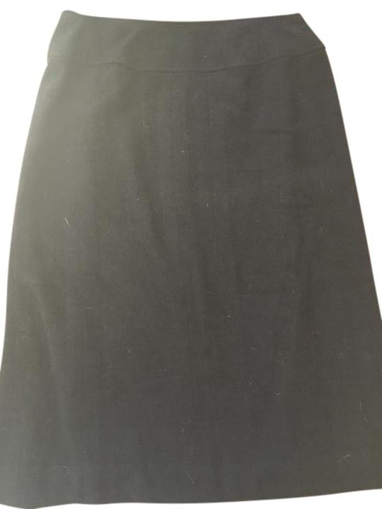 chanel below knee wool skirt