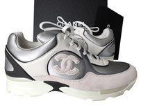 Chanel Sneakers White Silver SILVER/WHITE Athletic