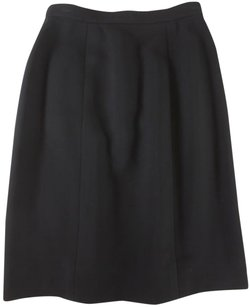 Chanel Straight Pencil Skirt Black