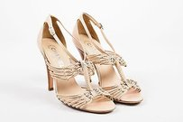 Chanel Nude Leather Beige Sandals