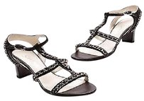 Chanel Lambskin Chain Black Sandals