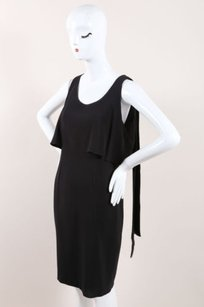 Chanel 07a Black Silk Tiered Dress