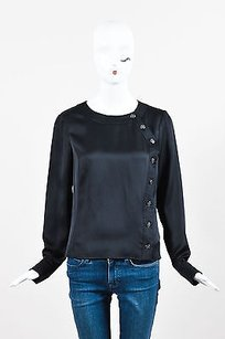 Chanel Silk Rounded Top Black