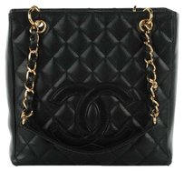Chanel Caviar Leather Shopping Tote in black