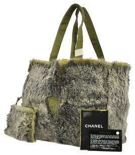 Chanel Tote in Green, Gray