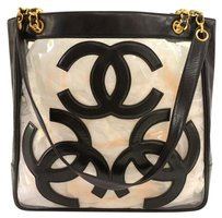 Chanel Triple Cc Leather Tote in Black