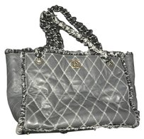Chanel Tweed Kim Kardashian Rare Limited Edition Tote in Gray