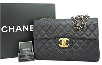 Chanel Vintage Matelasse Jumbo Shoulder Bag