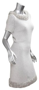 Chanel Womens White Knit Dress
