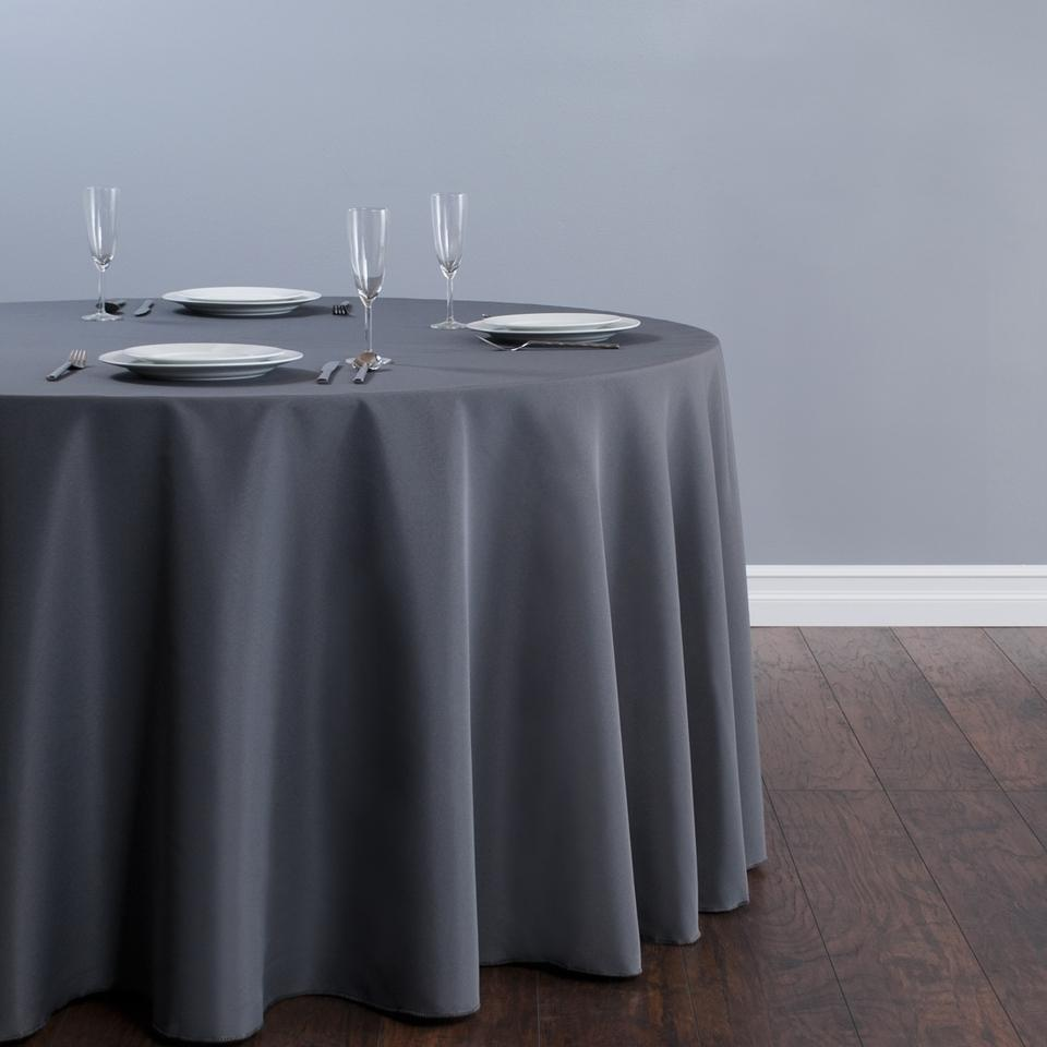 Charcoal Gray 11 Table Linens Tablecloth
