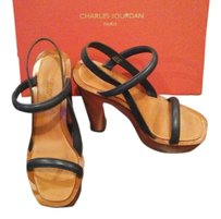 Charles Jourdan Navy straps see photo Platforms