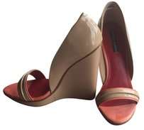 Charles Jourdan Nude Wedges