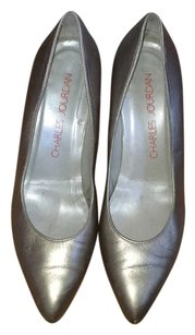 Charles Jourdan Silver Pumps