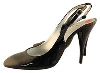 Charles Jourdan Womens Slingback Heels Leather Black Pumps