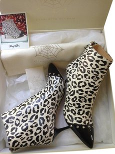 Charlotte Olympia Kitten Napa Leather Animal Print Studded Leopard Print Boots