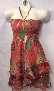 Charlotte Russe short dress Paisley Print Tube Top Sheer Lined on Tradesy