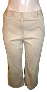 Charter Club Golf Khaki Capri/Cropped Pants Beige