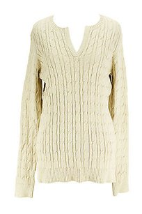 Charter Club Womens Cotton Blend Sweater