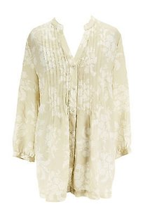 Charter Club Good Floral Top beige