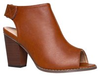 Chase & Chloe Block Brown Boots