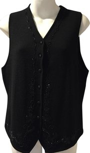 Chaus Embellished Beaded Wool Acrylic Vest