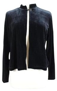 Chico's Womens Basic Long Sleeve Coat Black Jacket