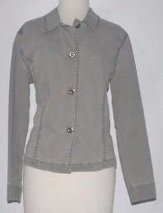 Chico's Chicos 1 Pewter Button Grey Jacket