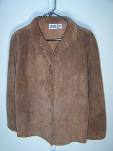 Chico's Brown Leather Jacket