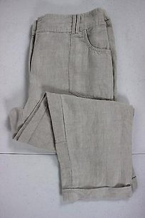 Chico's Womens Solid Casual 1 100 Linen Trousers Pants