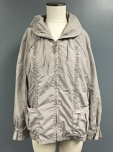 Chico's Zenergy By Chicos Zip Up Gray Jacket