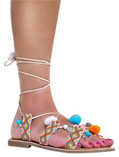 Chinese Laundry Ankle-strap Beige Sandals
