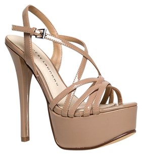 Chinese Laundry Cutouts High-heel Holiday100 Teaserpatentnude-5.5 Beige Sandals