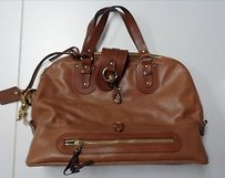 Chloé Chloe Horse Charms Leather B3341 Tote in Brown And Gold