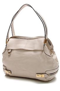 Chloé Chloe Leather Cary Zipper Tote in Ivory